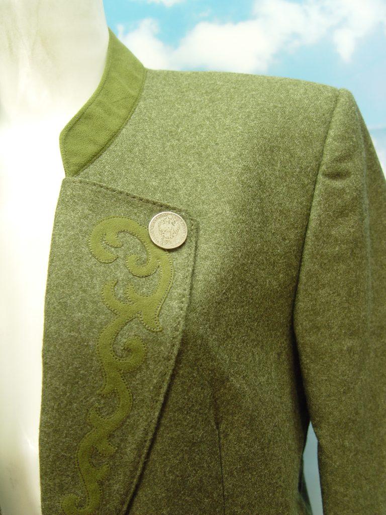 Salzburger Heimatwerk Grüne Trachten Herrenjacke aus