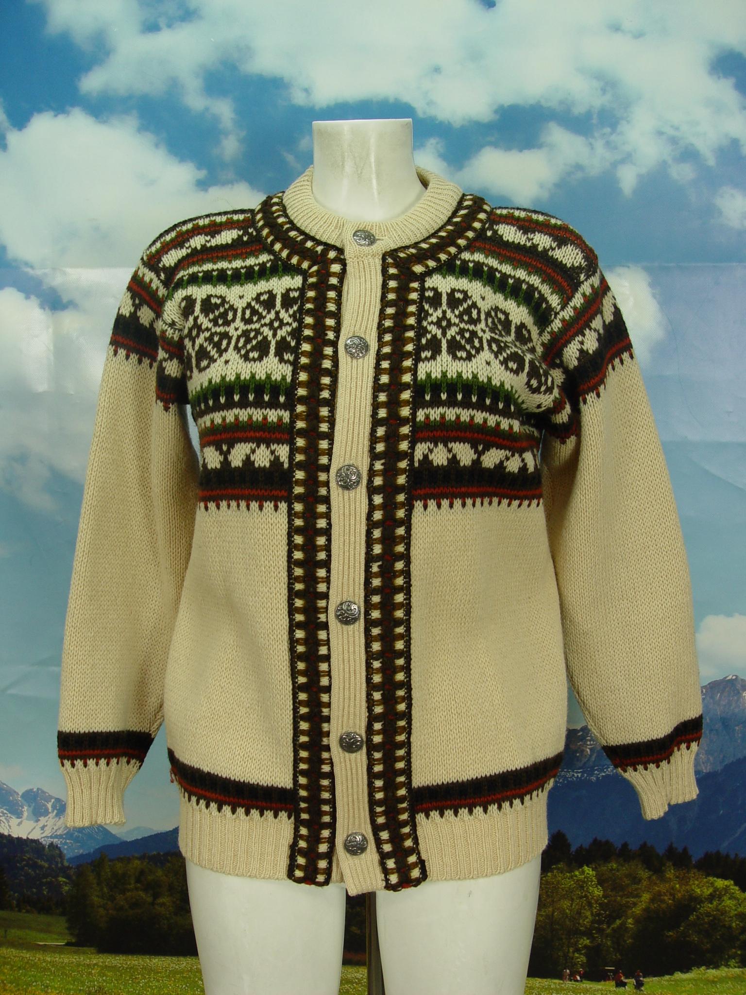 Damen Herren Norlaender 48 Jacke Dicke Norweger Strickjacke Gr Und Vintage Echte f76byYg