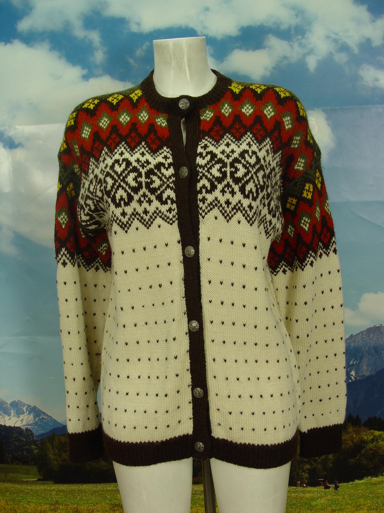 verschiedene Farben 100% hohe Qualität 100% original handgestrickt? klasse Vintage Damen und Herren Norweger Strickjacke Jacke  Gr.44