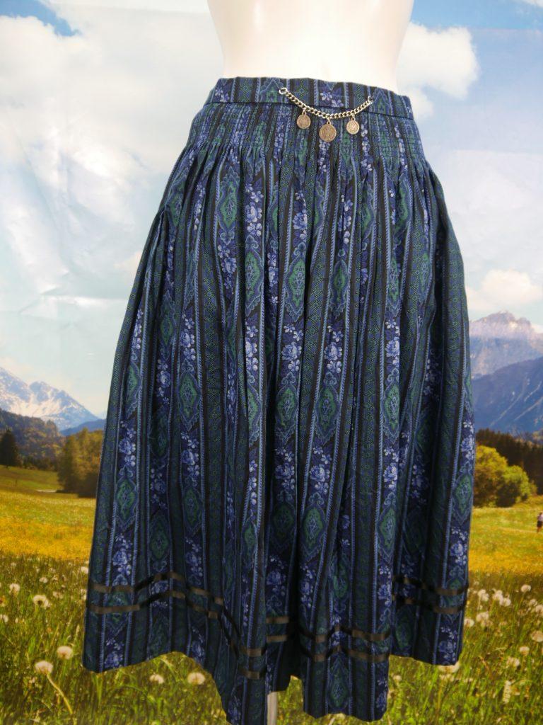 Damen Trachten Rock braun beige gestreift Gr 40 v Alpenland