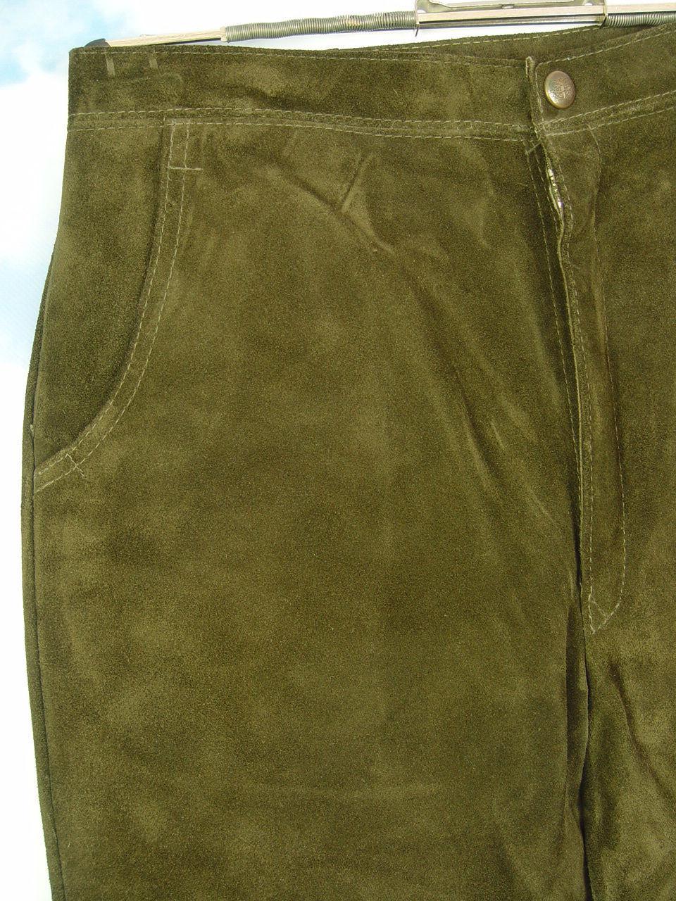 Made in Germany sehr gut erhaltene klassische Damen-Kniebund Lederhose ... dfefcb9f4