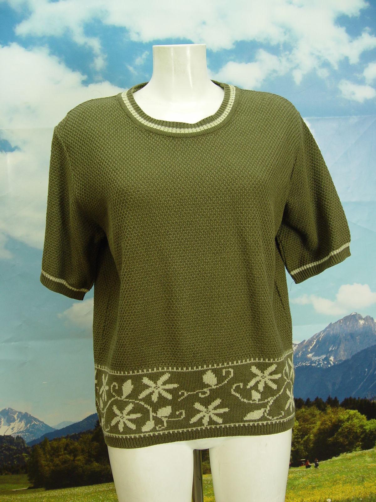 timeless design f84d5 43a00 Kurzarm schöner Trachtenpullover Damen Trachten Pullover Gr.44